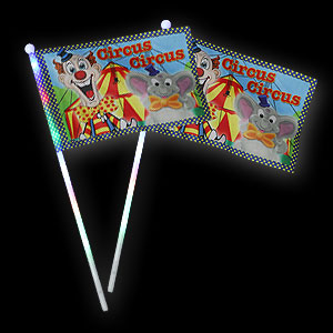 042-642 LED Fahne Circus Clown und Elefant
